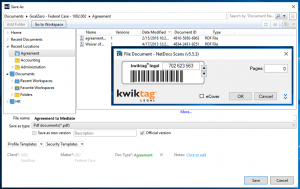 KwikTag for NetDocuments1