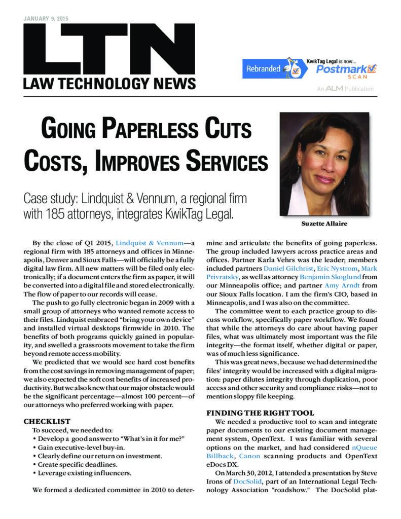 Linquist & Vennum DocSolid Case Study