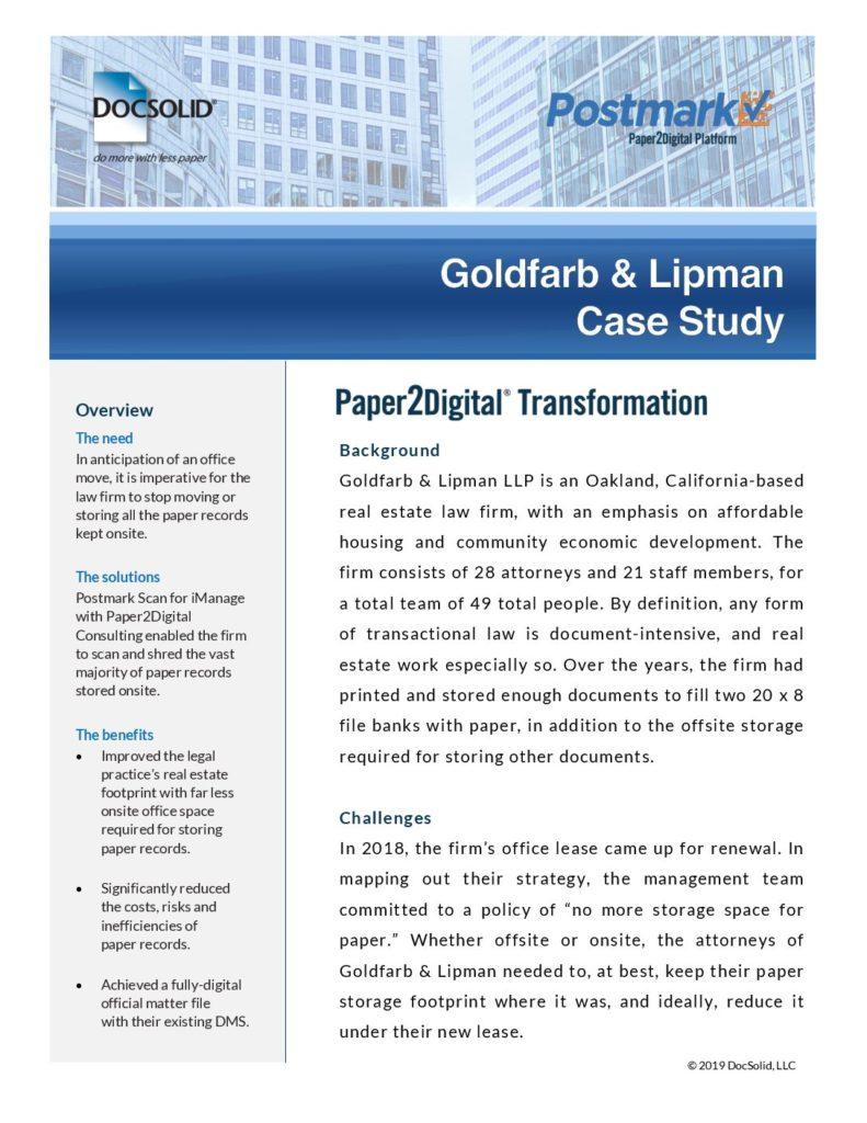 Goldfarb & Lipman Case Study