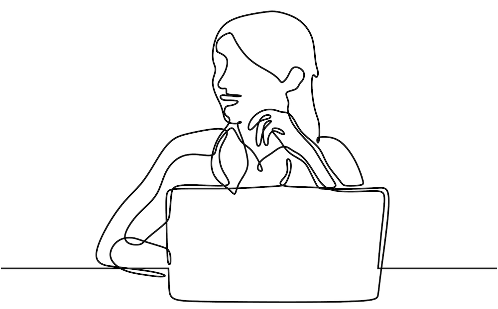 Woman Work From Home Laptop