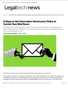 5 Steps to Control Your mailroom