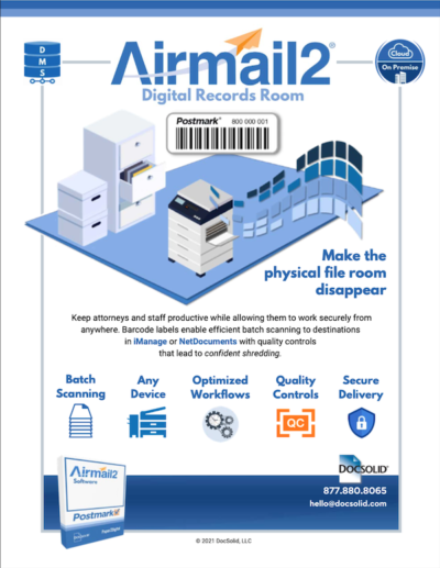 Airmail2 DocSolid Digital Mailroom Datasheet PDF